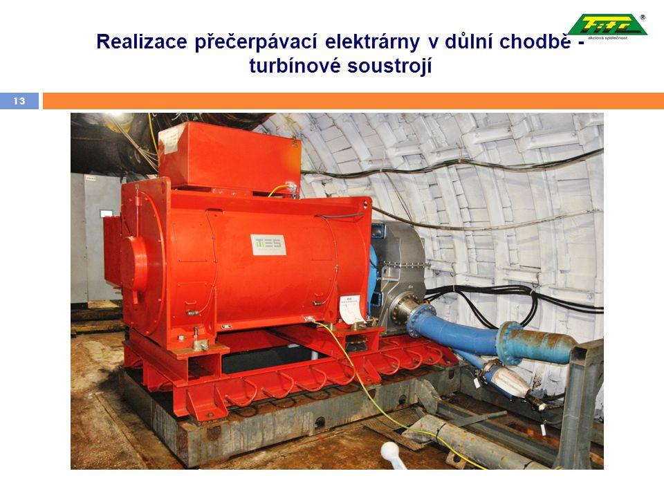 Realizace přečerpávací elektrárny v důlní chodbě - turbínové soustrojí 13