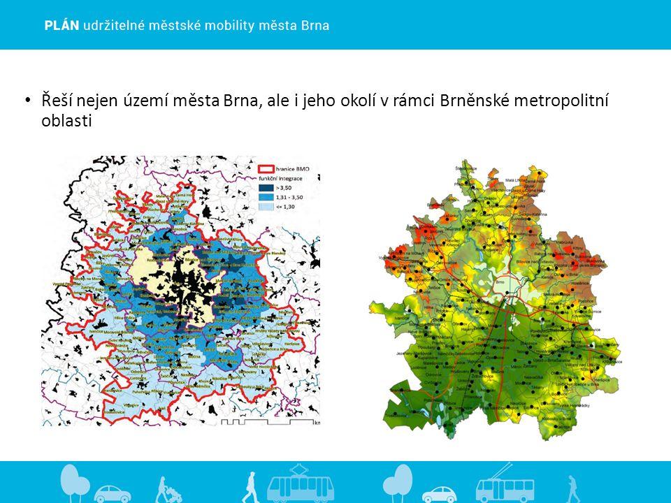 Řeší nejen území města Brna, ale i jeho okolí v rámci Brněnské metropolitní oblasti