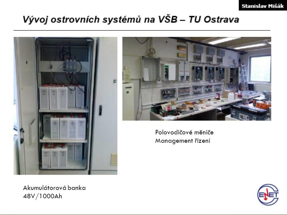 Akumulátorová banka 48V/1000Ah Polovodičové měniče Management řízení