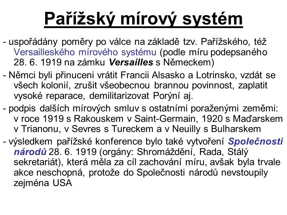 """Rusko-polská válka 1919-21 V Polsku bujel silný nacionalismus, v čele státu stál Józef Piłsudski snící o """"Velkopolsku V dubnu roku 1919 zahájila polská armáda útok, obsadila rozsáhlá území v dnešním Bělorusku a Ukrajině Roku 1920 přecházejí bolševici úspěšně do protiútoku, ale prohrávají bitvu u Varšavy a jsou opět nuceni ustoupit na východ Evropské velmoci se v době sovětské ofenzivy velmi obávaly expanze bolševické revoluce dále do Evropy, proto se angažovaly v mírovém procesu Na návrh britského ministra zahraničí vznikla tzv."""