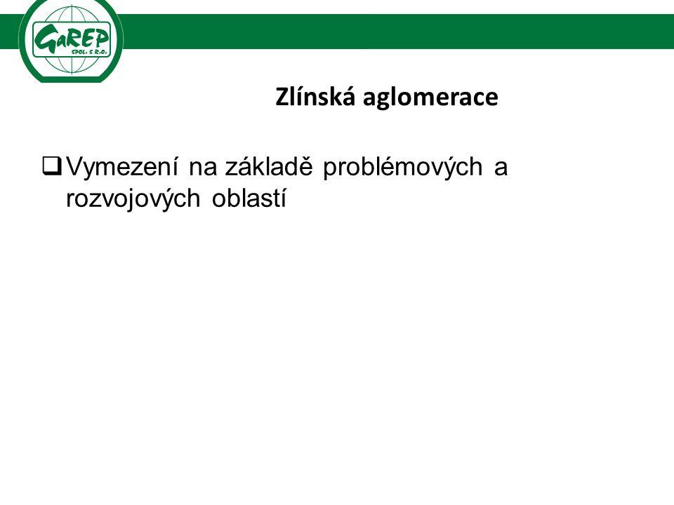 Zlínská aglomerace  Vymezení na základě problémových a rozvojových oblastí