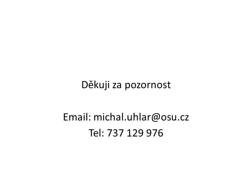 Děkuji za pozornost Email: michal.uhlar@osu.cz Tel: 737 129 976