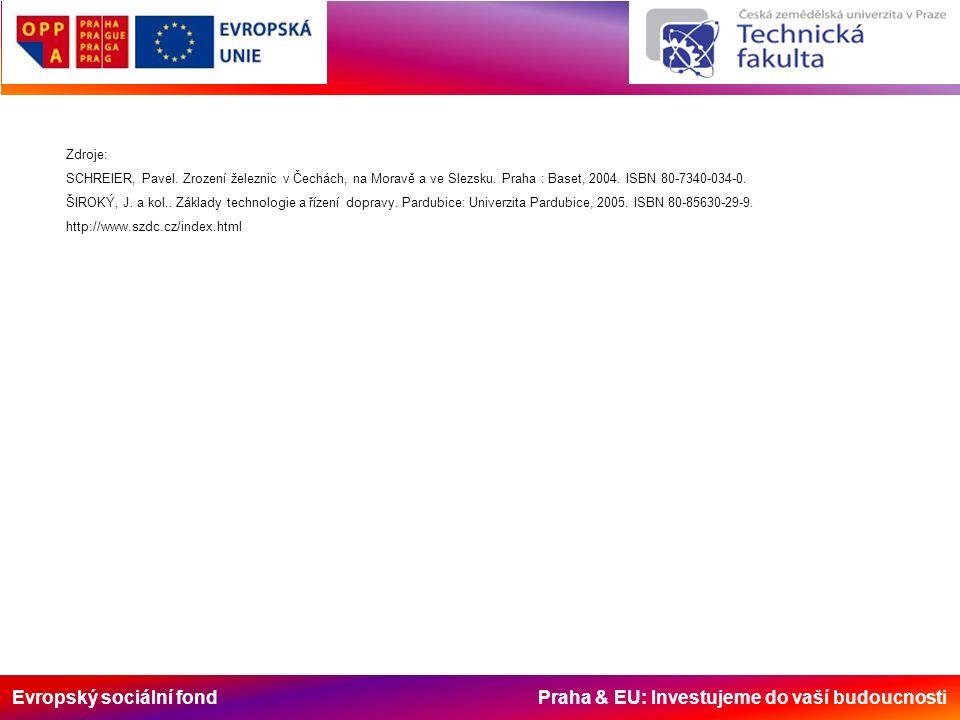 Evropský sociální fond Praha & EU: Investujeme do vaší budoucnosti Zdroje: SCHREIER, Pavel.