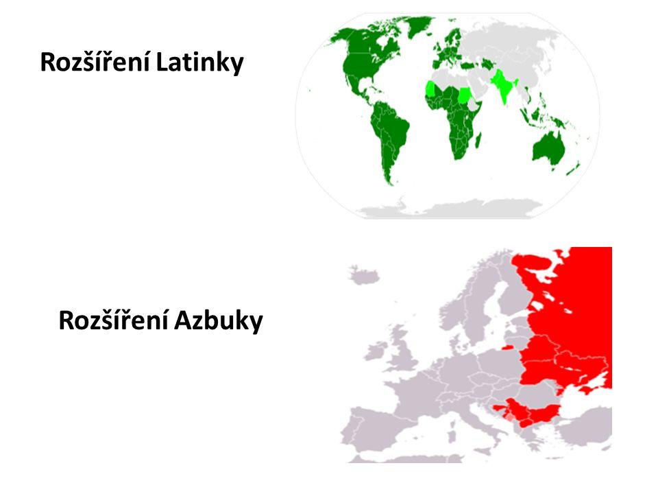Rozšíření Latinky Rozšíření Azbuky
