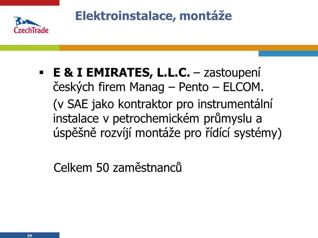19 Elektroinstalace, montáže  E & I EMIRATES, L.L.C.