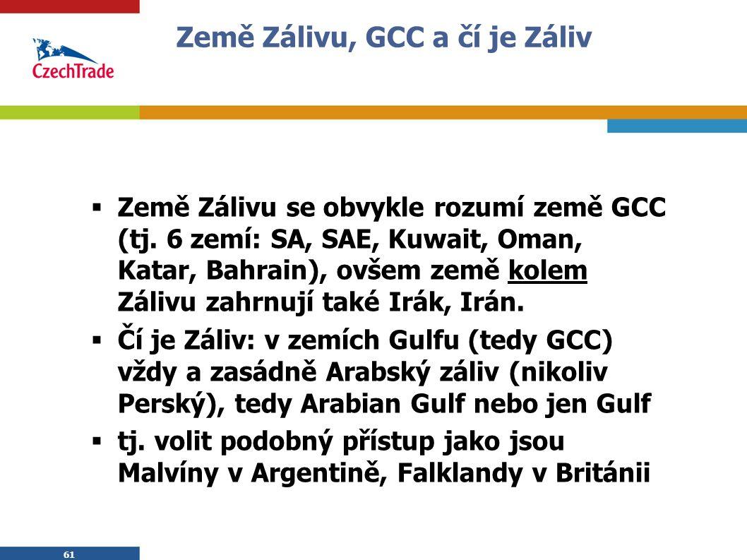 61 Země Zálivu, GCC a čí je Záliv  Země Zálivu se obvykle rozumí země GCC (tj.