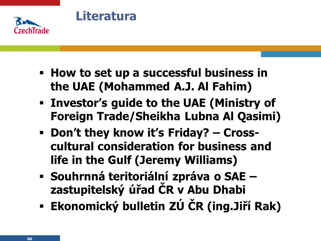 66 Literatura  How to set up a successful business in the UAE (Mohammed A.J.