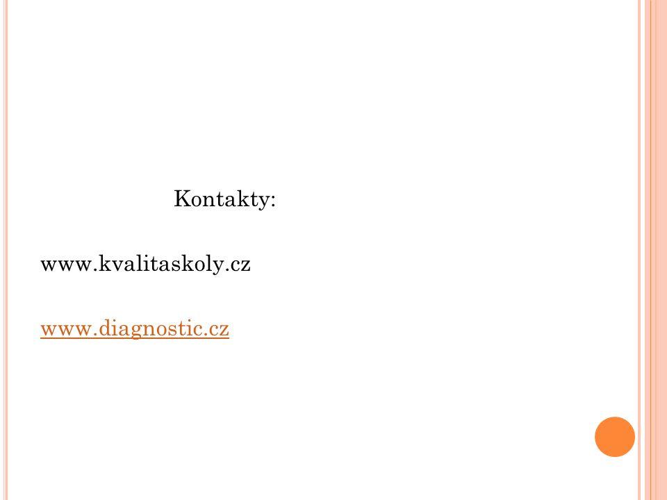 Kontakty: www.kvalitaskoly.cz www.diagnostic.cz