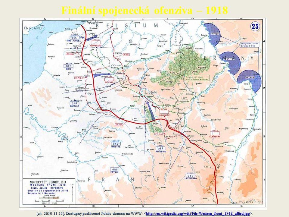 Finální spojenecká ofenziva – 1918 [cit. 2010-11-11].