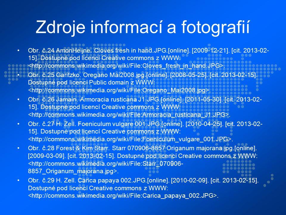 Zdroje informací a fotografií Obr. č.24 AmonHeijne.