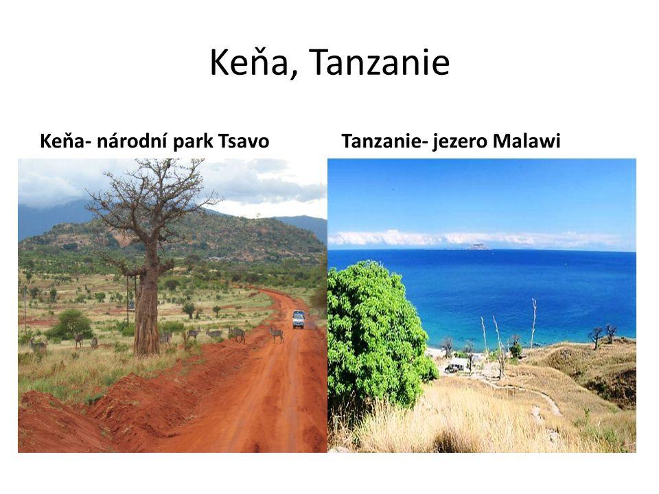 Keňa, Tanzanie Keňa- národní park TsavoTanzanie- jezero Malawi