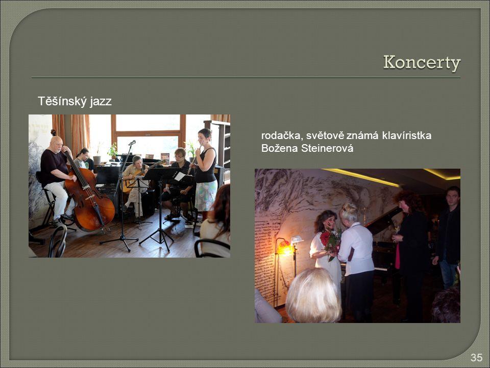 35 Těšínský jazz rodačka, světově známá klavíristka Božena Steinerová