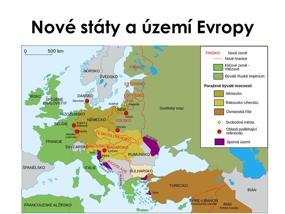 Nové státy a území Evropy