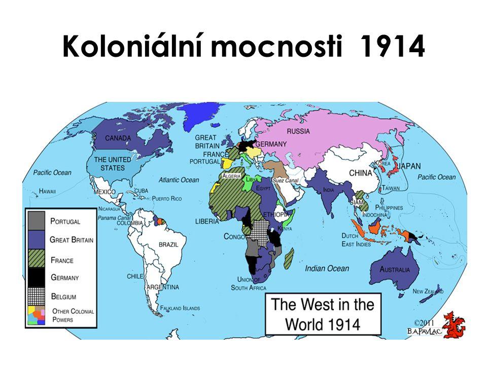 Koloniální mocnosti 1914