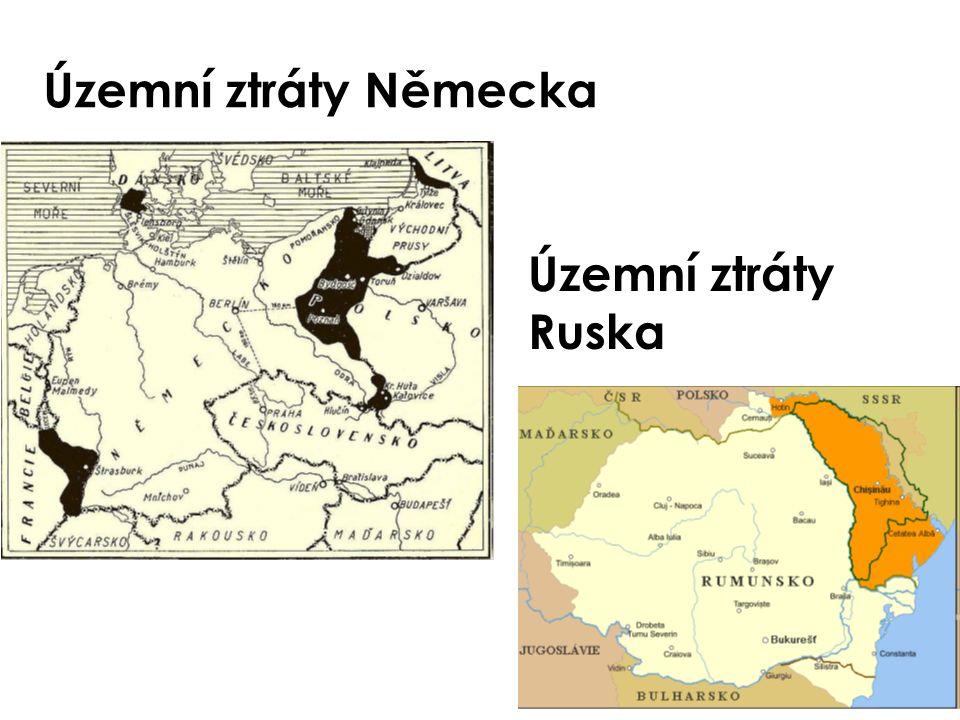 Územní ztráty Německa Územní ztráty Ruska