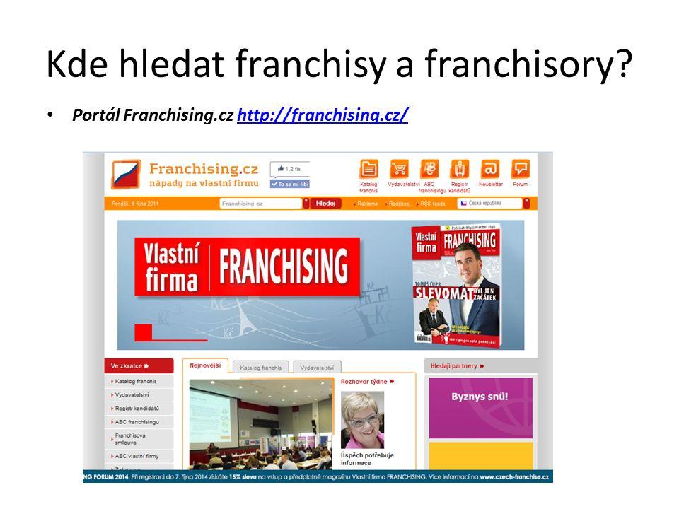 Kde hledat franchisy a franchisory.