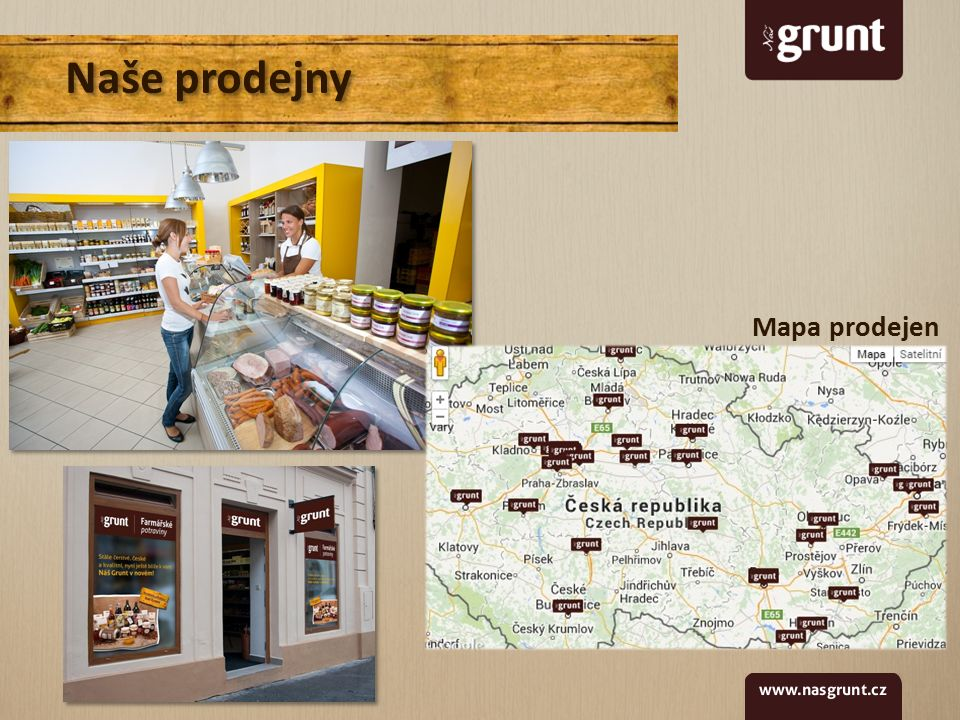 Naše prodejny Mapa prodejen
