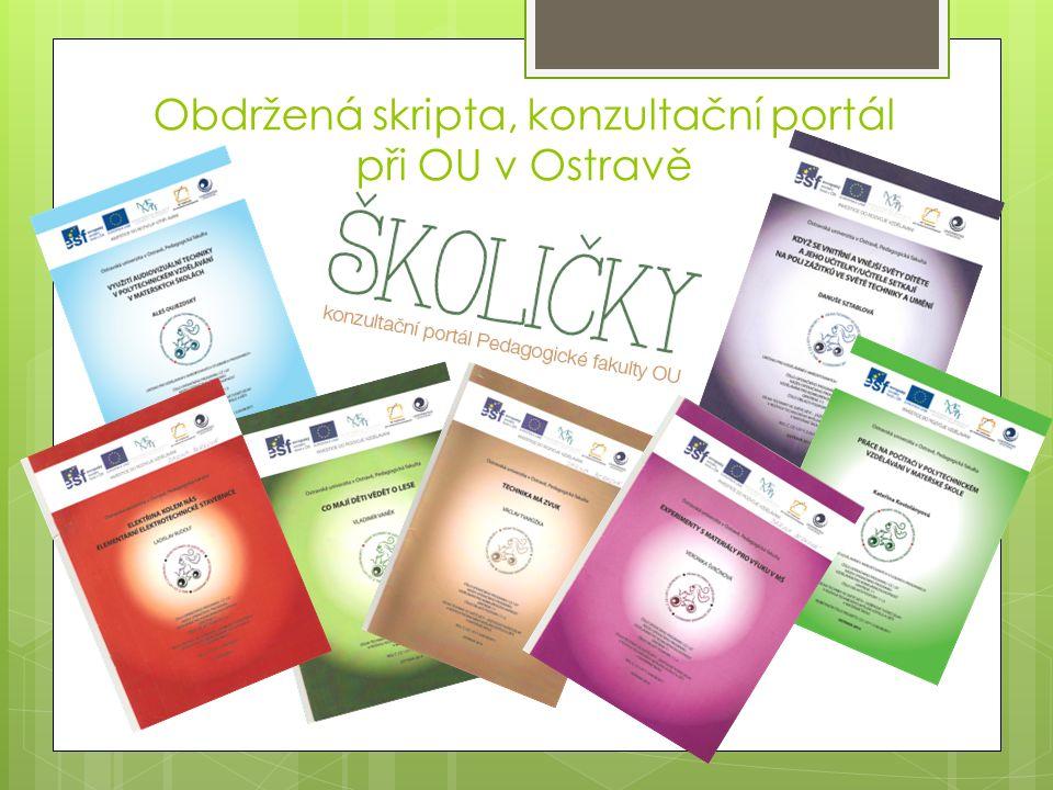 Obdržená skripta, konzultační portál při OU v Ostravě