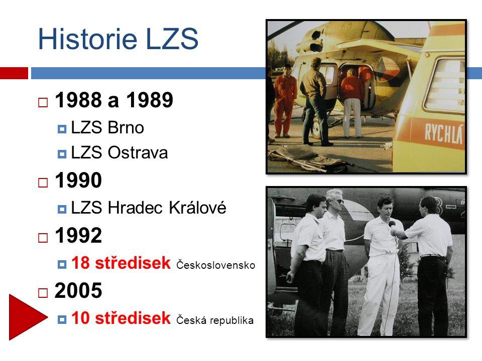  1988 a 1989  LZS Brno  LZS Ostrava  1990  LZS Hradec Králové  1992  18 středisek Československo  2005  10 středisek Česká republika Historie LZS