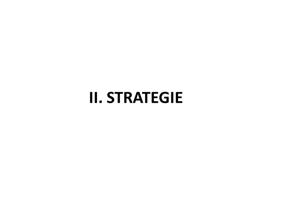II. STRATEGIE