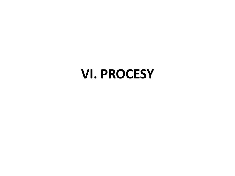 VI. PROCESY