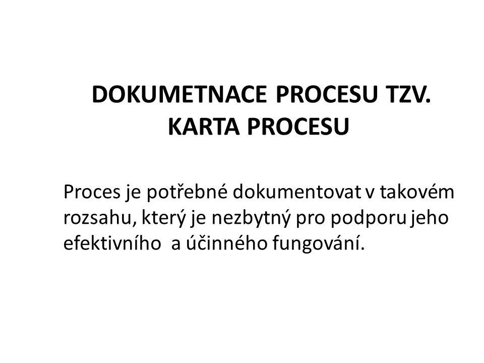 DOKUMETNACE PROCESU TZV.