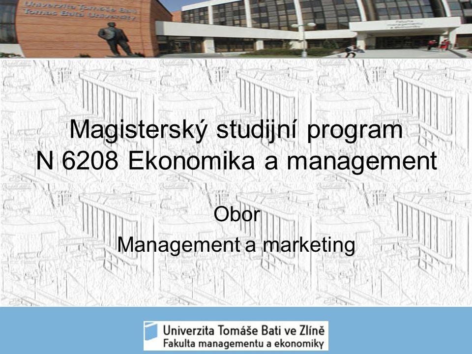 Po prohloubení studia teoretických a metodických předmětů je posilována odborná průprava v rámci oboru Management a marketing.