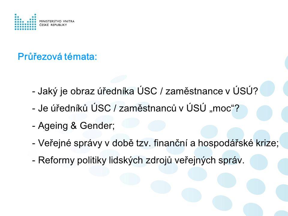 Průřezová témata: - Jaký je obraz úředníka ÚSC / zaměstnance v ÚSÚ.