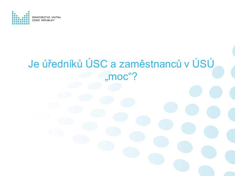 """Je úředníků ÚSC a zaměstnanců v ÚSÚ """"moc ?"""