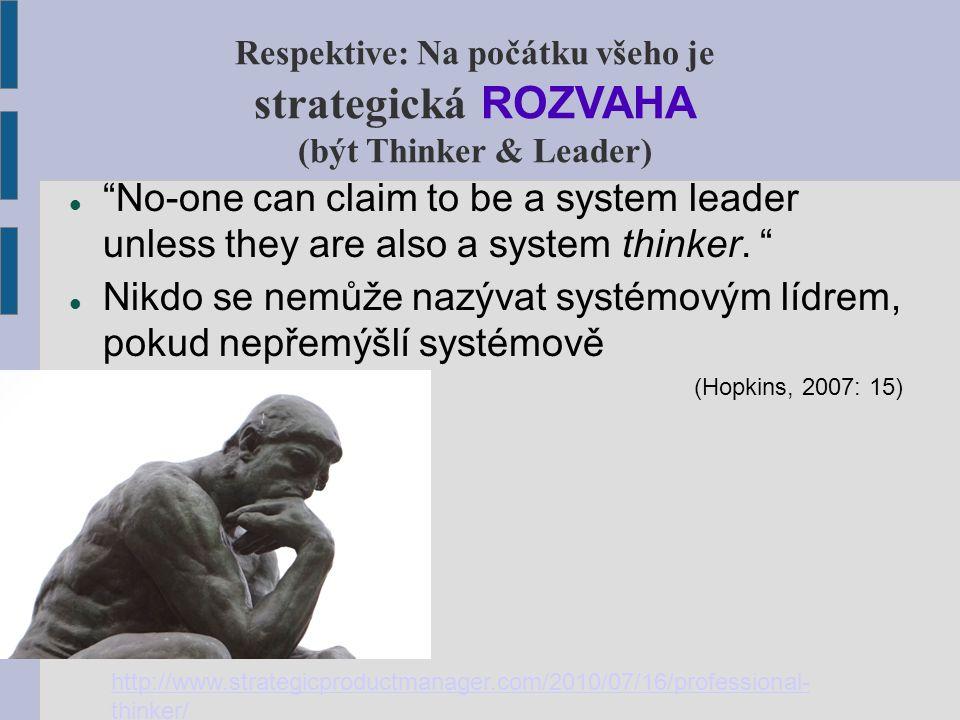 Hlavní principy systémových změn System-wide reform School improveme nt Teaching & Learning System Leadership Hopkins, 2007: 15