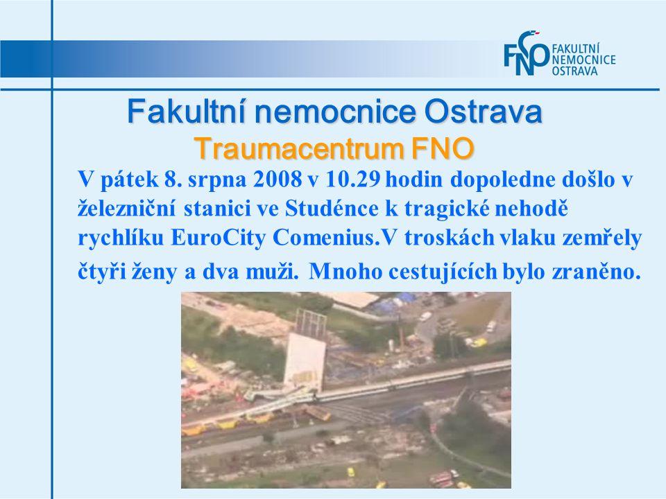 V pátek 8. srpna 2008 v 10.29 hodin dopoledne došlo v železniční stanici ve Studénce k tragické nehodě rychlíku EuroCity Comenius.V troskách vlaku zem