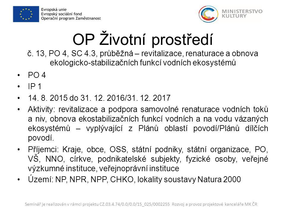 OP Životní prostředí č.