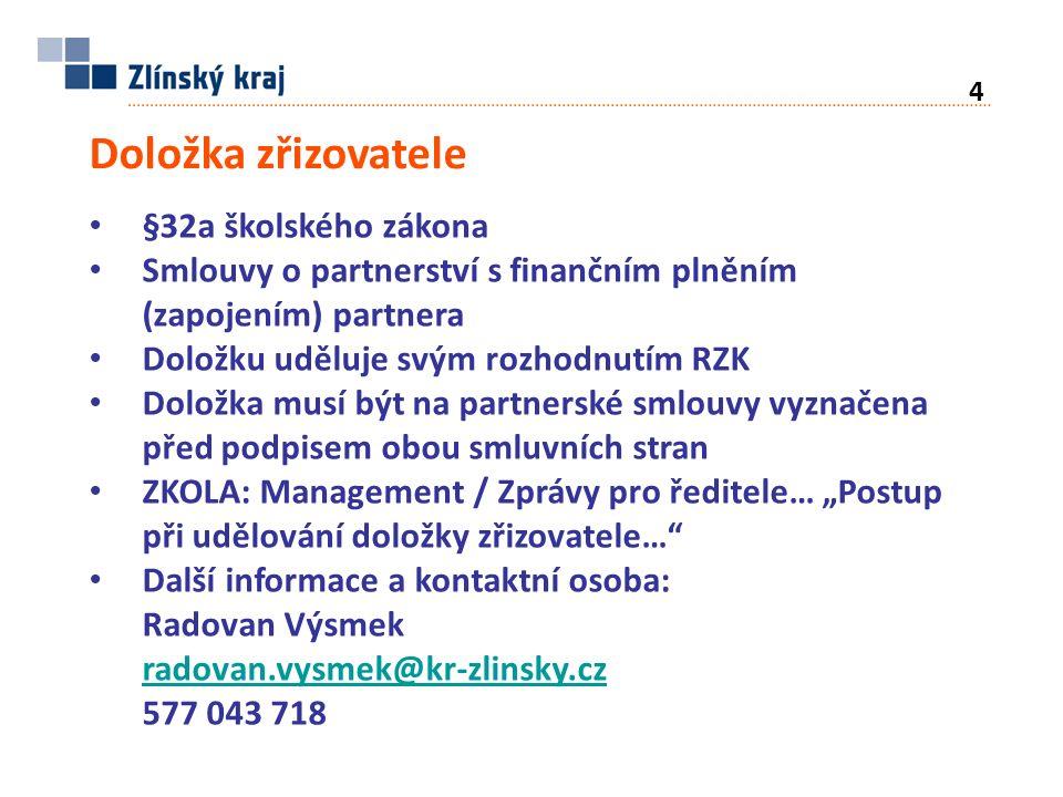 Fond Zlínského kraje Fond je zřízen od 1.1.