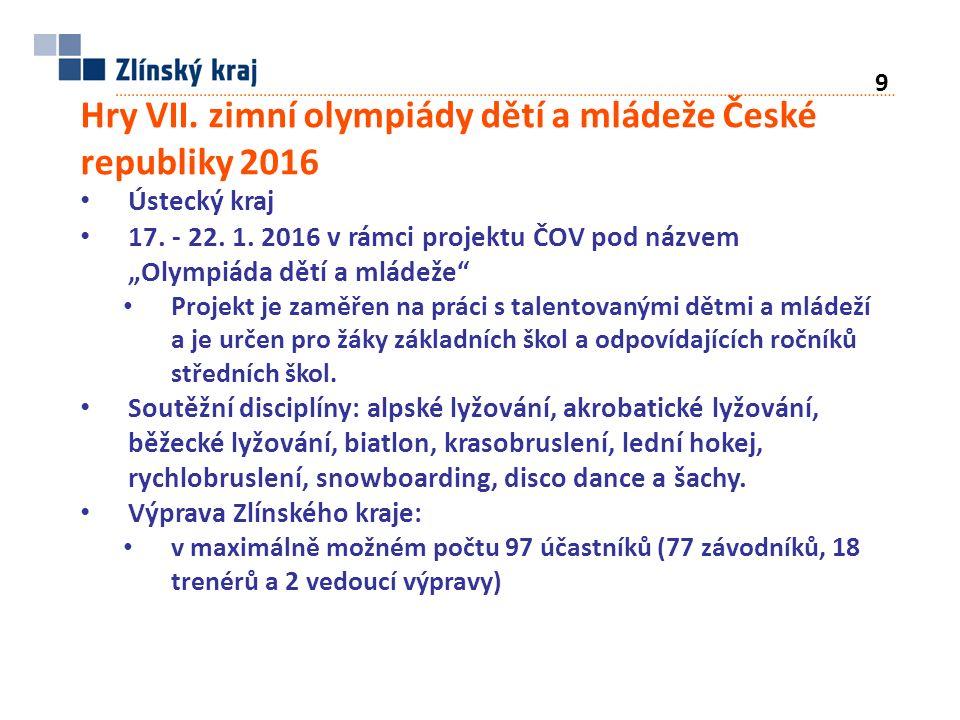 Hry VII. zimní olympiády dětí a mládeže České republiky 2016 Ústecký kraj 17.