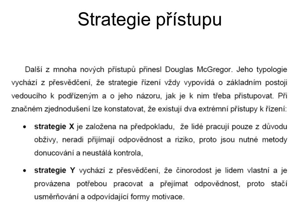 Strategie přístupu