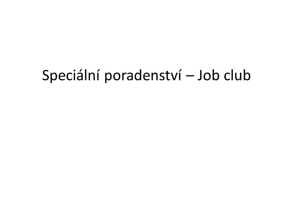 Speciální poradenství – Job club