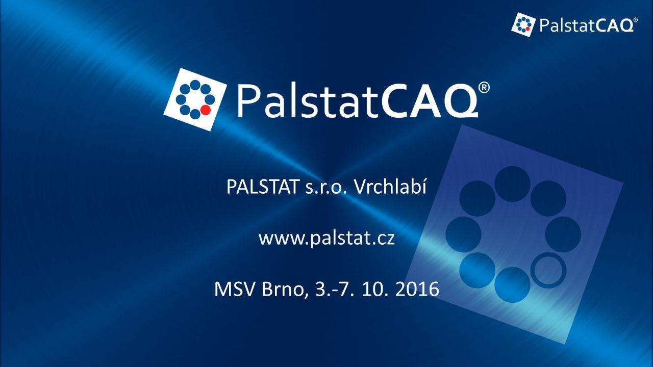 PALSTAT s.r.o. Vrchlabí www.palstat.cz MSV Brno, 3.-7. 10. 2016