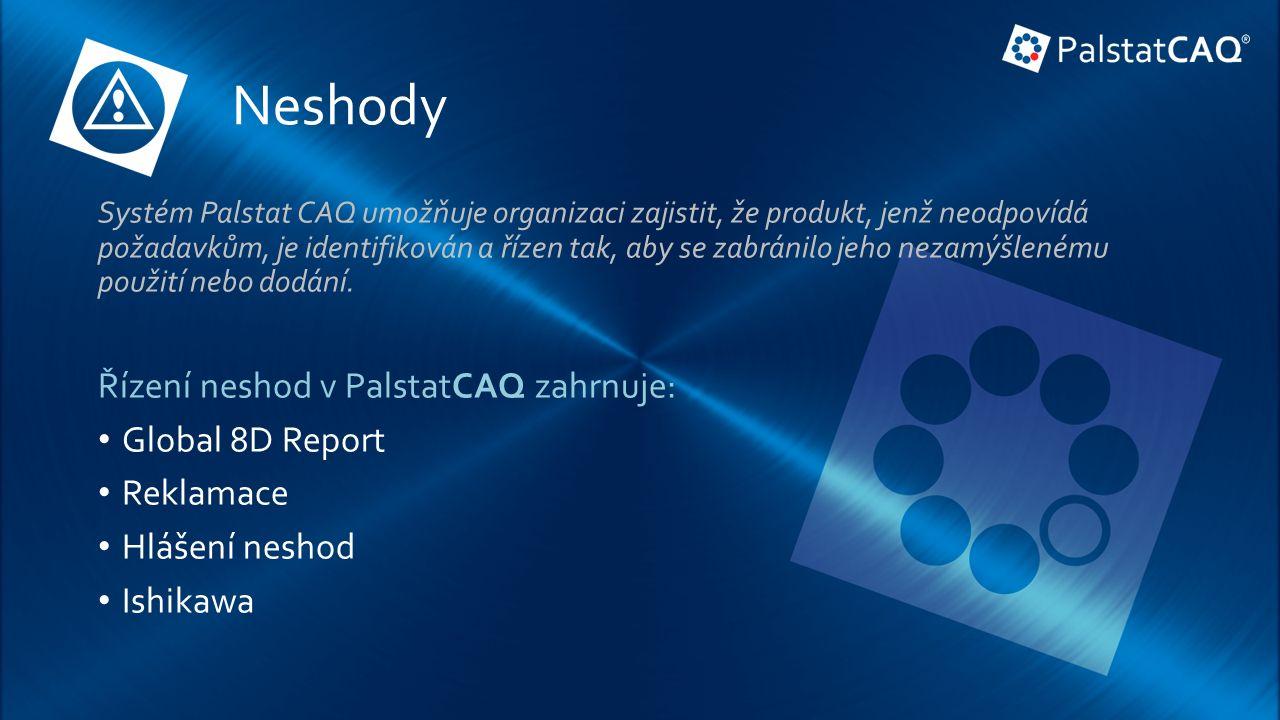 Neshody Systém Palstat CAQ umožňuje organizaci zajistit, že produkt, jenž neodpovídá požadavkům, je identifikován a řízen tak, aby se zabránilo jeho nezamýšlenému použití nebo dodání.