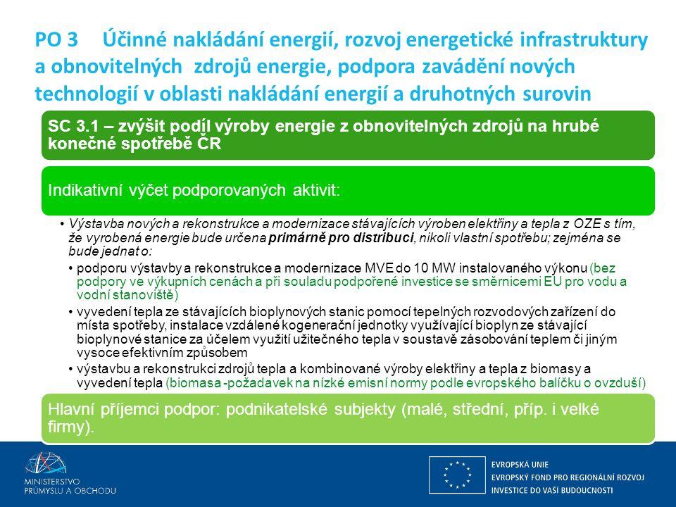 Ing. Martin Kocourek ministr průmyslu a obchodu ZPĚT NA VRCHOL – INSTITUCE, INOVACE A INFRASTRUKTURA PO 3Účinné nakládání energií, rozvoj energetické