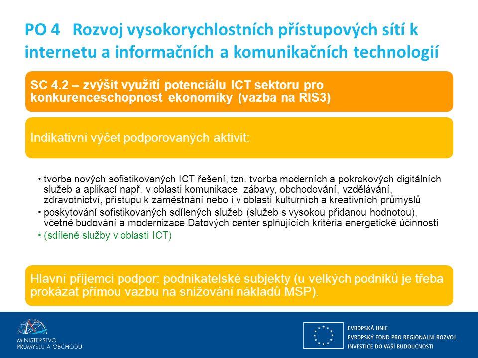 Ing. Martin Kocourek ministr průmyslu a obchodu ZPĚT NA VRCHOL – INSTITUCE, INOVACE A INFRASTRUKTURA SC 4.2 – zvýšit využití potenciálu ICT sektoru pr