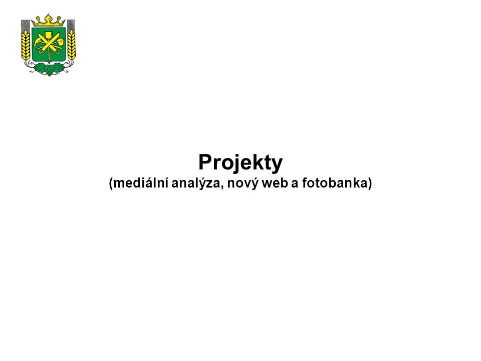 Projekty (mediální analýza, nový web a fotobanka)