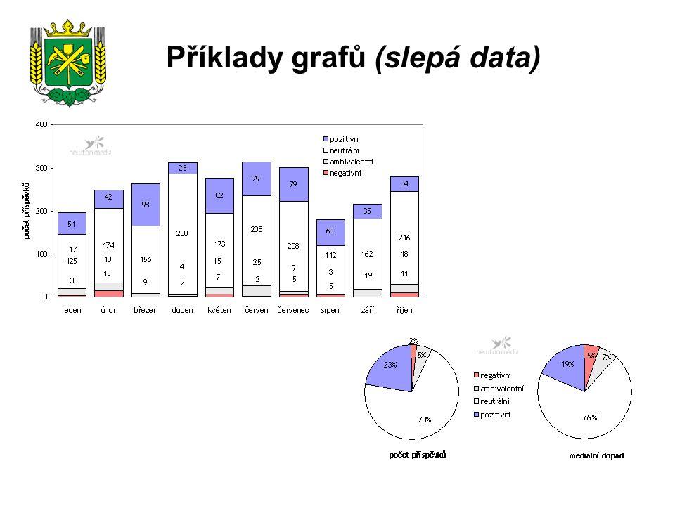 Příklady grafů (slepá data)