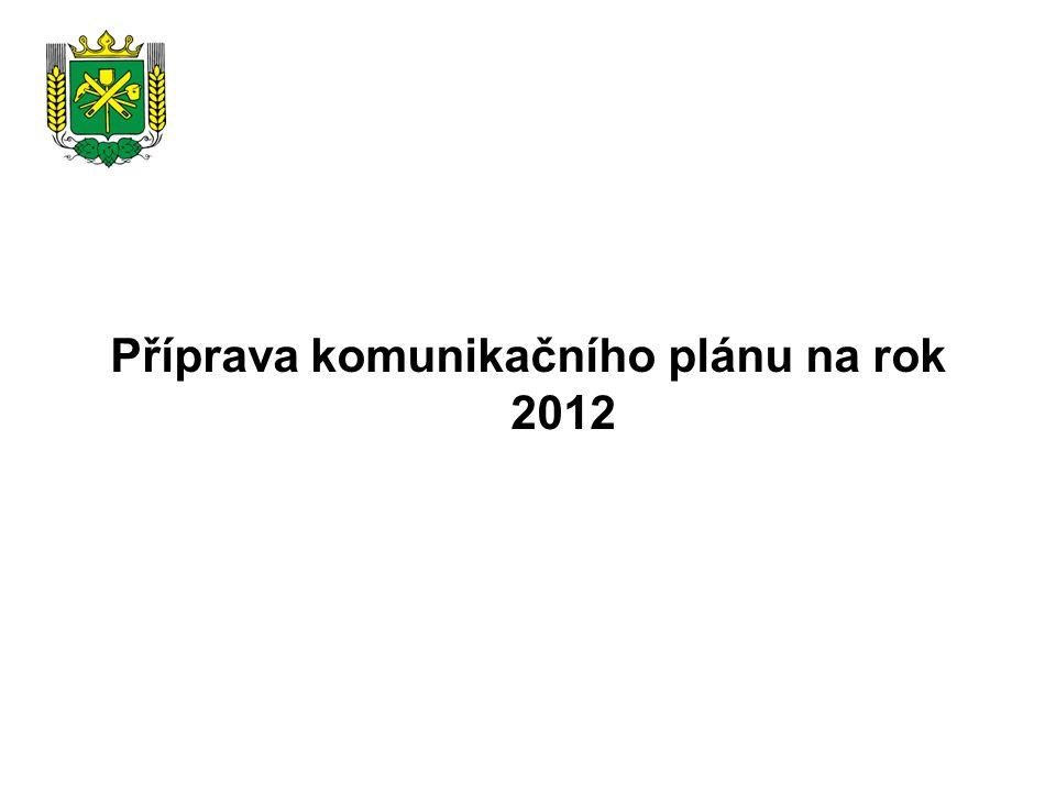 Příprava komunikačního plánu na rok 2012