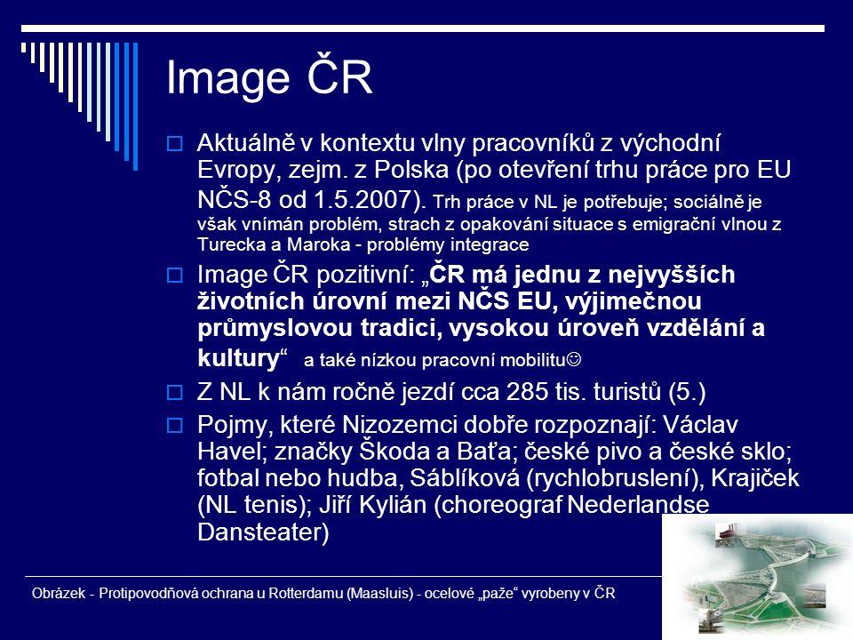 Image ČR  Aktuálně v kontextu vlny pracovníků z východní Evropy, zejm. z Polska (po otevření trhu práce pro EU NČS-8 od 1.5.2007). Trh práce v NL je