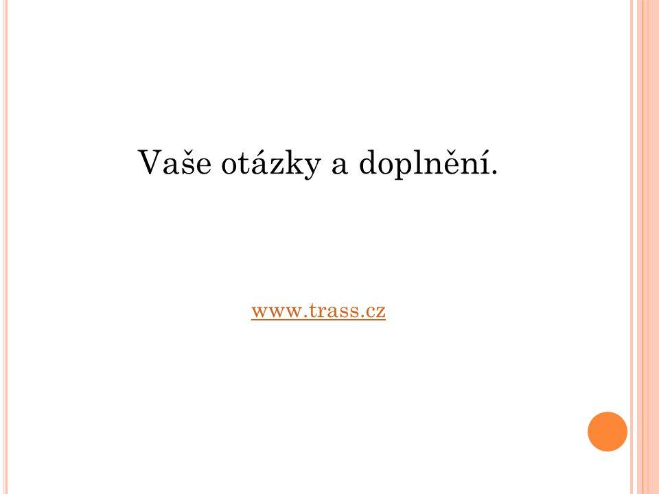 Vaše otázky a doplnění. www.trass.cz