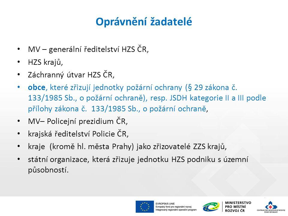 postup žadatele pro vydání stanoviska HZS kraje je samostatnou přílohou č.