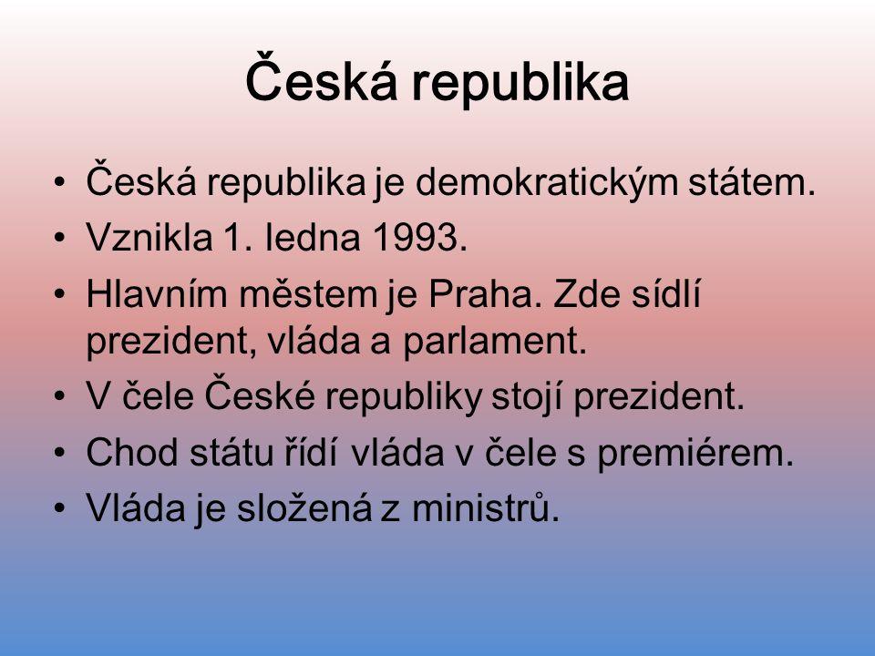 Česká republika Česká republika je demokratickým státem.