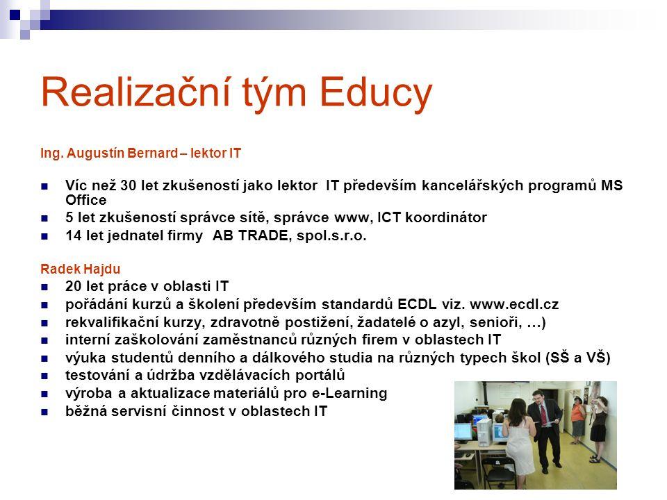 Realizační tým Educy Ing.