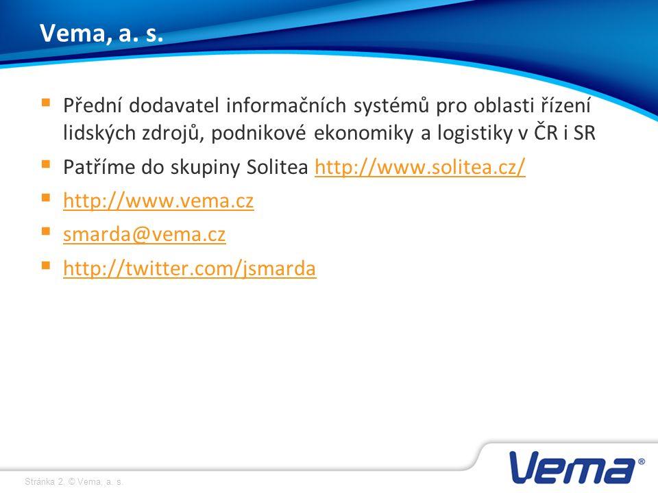 Stránka 13, © Vema, a. s. Děkuji za pozornost