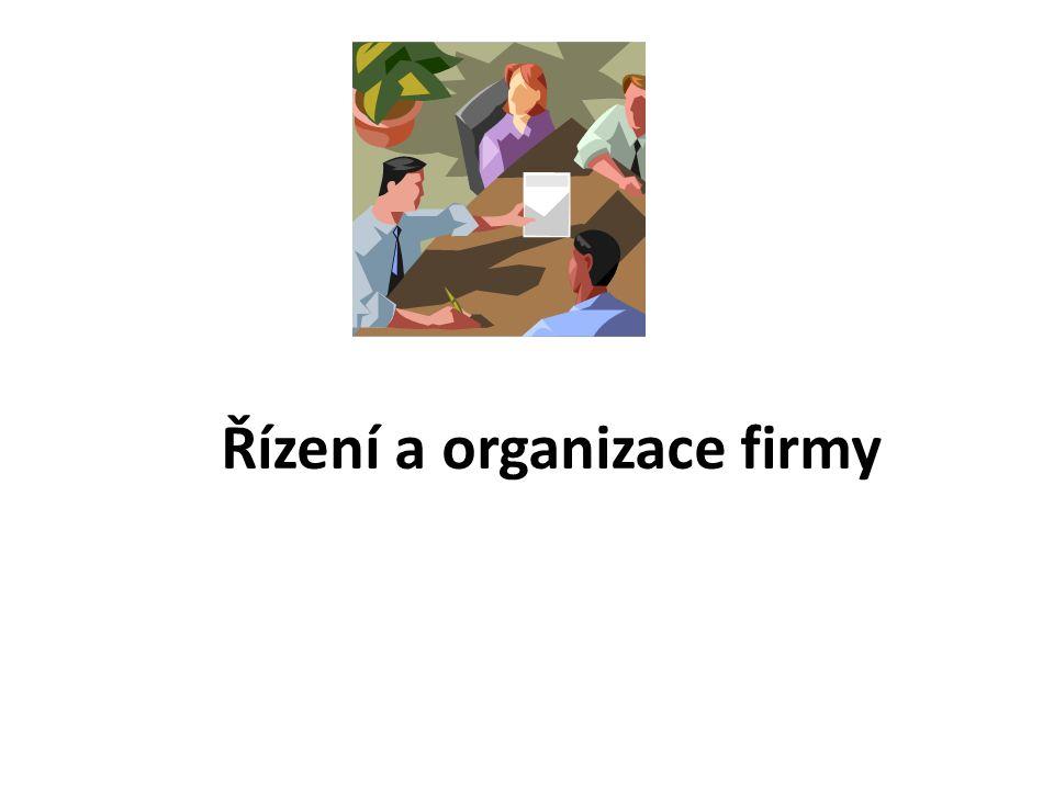 Řízení a organizace firmy